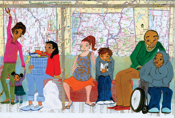 Children's Author Illustrator Catherine Dawgert: People on the Bus