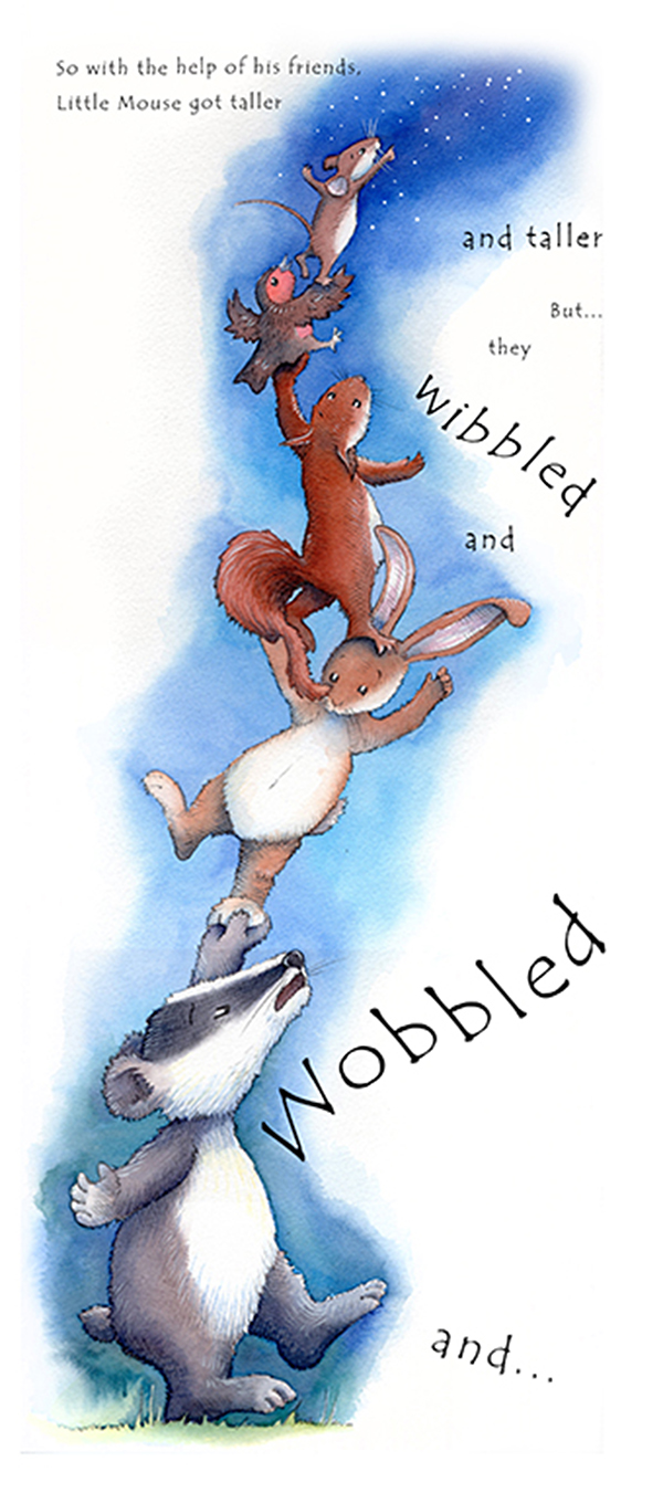 wibbled and wobbled